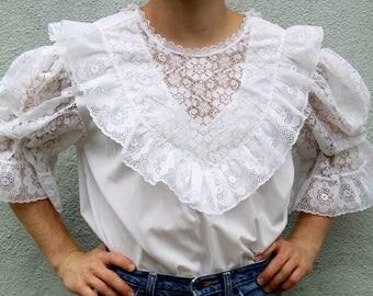 vintage ruffled dream blouse