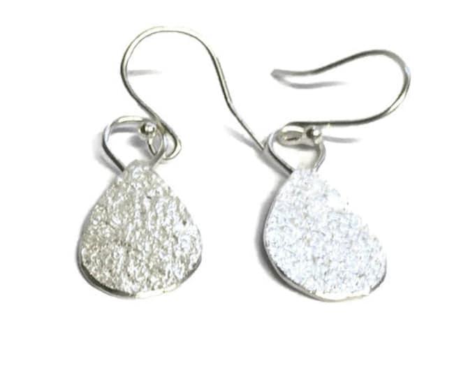 Frosted Pear Drop Earrings