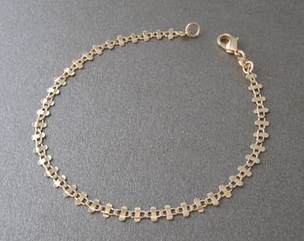 750/000 gold plated fancy link 18 k