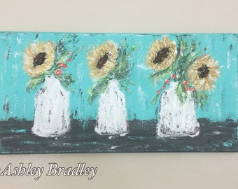 Abstract Sunflowers Painting