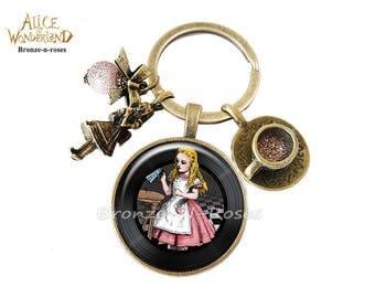 Porte clés * Drink me * Alice au pays des merveilles bijou fantaisie verre