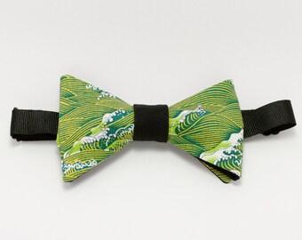 "Bow tie green ""Kanagawa"""
