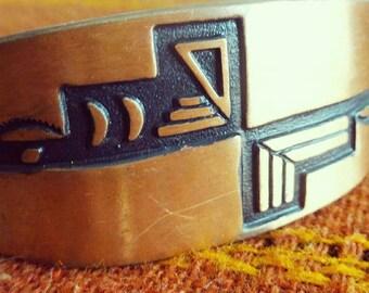 Copper Hopi style cuff