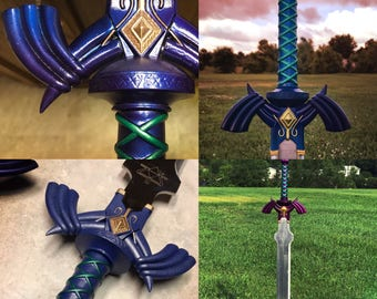 Legend of Zelda Master Sword Full-Size Metal Replica, Breath of the Wild, Twilight Princess, Ocarina of Time