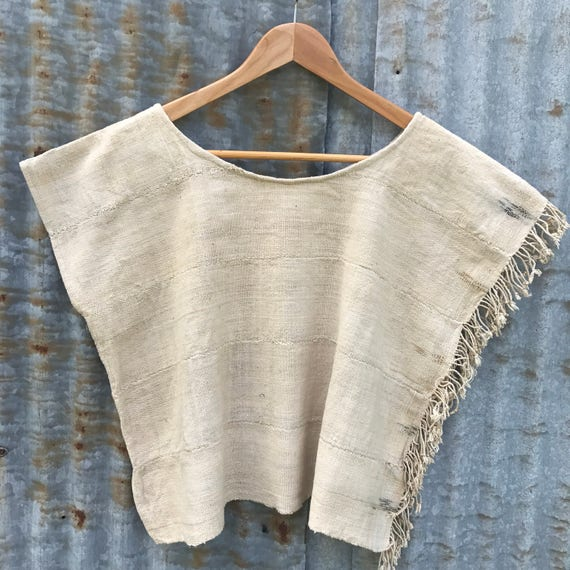 Natural Woven Boxy Top
