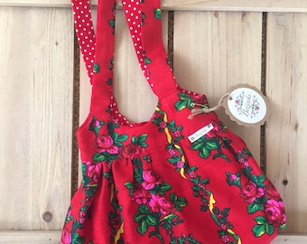 Red Floral Goralski Mini Hand Bag