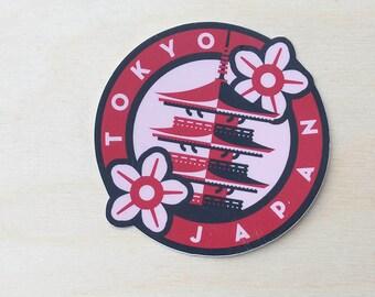 Tokyo Japan Travel Sticker