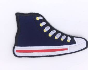 Converse Inspired, Sneaker patches, Custom Embroidered Patch Sew on Patches Custom, Hightop Custom, Hightop Converse Patches for Jackets