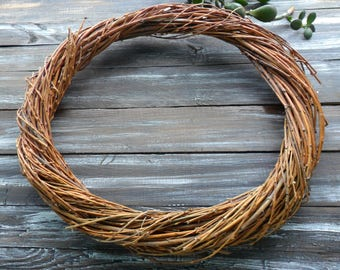 Basic Wreath Natural Ring Handmade twig wreath Nature Floral Accents Primitive wreath Floral Arrangements Holiday crafts Wedding decor round