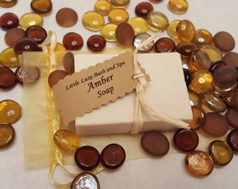 Amber Soap -  - Handmade, Bridal Party Favor, Gift for Her, Natural, Bath and Body Gift, Bath Favor, Scented Soap