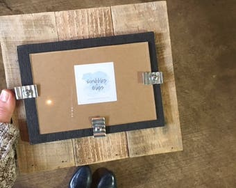 "Reclaimed Wood Picture Frame | 4""x6"""