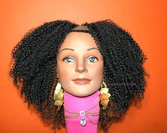 "READY TO SHIP //Synthetic crochet wig  ""Lovely Coils"""