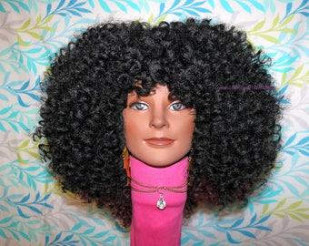 "READY TO SHIP //Synthetic handmade crochet wig ""Beautifully Curly"""