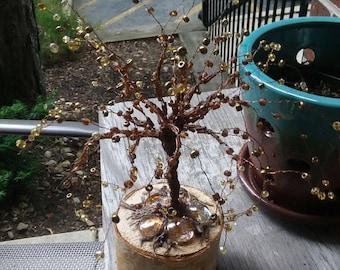 Beaded Copper Wire Tree