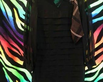 Vintage GOGO dress w/ascot