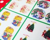 1980s Holiday Sticker Set (featuring Care Bears, Rainbow Brite, My Little Pony, Strawberry Shortcake)