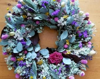 VINTAGE, Dried Flower Wreath