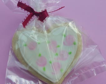 Shabby Heart Shaped Sugar Cookie Party Favor