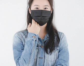 Black surgical flu allergy mask anime soul eater