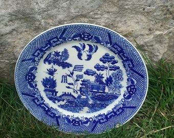 Vintage Blue Willow Ware Plate