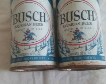 Vintage Busch Bavarian Pull Top Beer Cans/Empty/ Twelve(12) Ouch Can/ Two (2)/ Antique/448-C