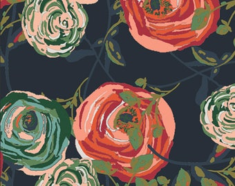 Paradis Woodlands designed by Bari J for Art Gallery Fabrics, Boho Fabric, Floral Fabric