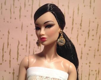 Fashion Royalty Barbie Silkstone doll crystal earrings