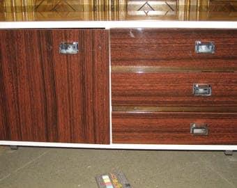 Vintage teak highboard sideboard vintage