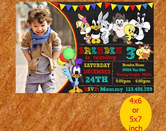 Baby Looney Tunes Printable, Baby Looney Tunes Invitation, Baby Looney Tunes Birthday, Baby Looney Tunes Party