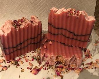 Rose Charcoal Natural Homemade Soap