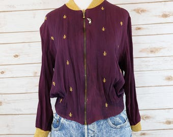 Vintage Gold and Purple jacket