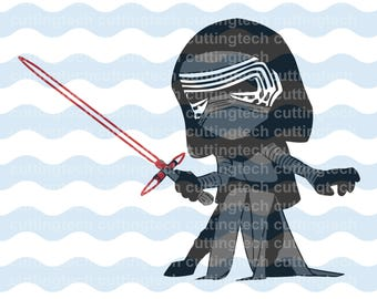 Kylo Ren Dark Side SVG, PNG Cut Files for use with Silhouette Studio, Cricut, Cutting Machines, scrapbooking, vinyl,stencil template