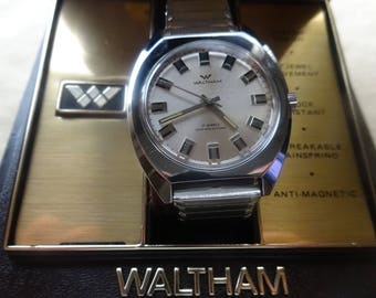 Vintage Waltham Mens Watch/ 17 Jewel Waltham Watch/Mens Waltham Watch/ Vintage Waltham Watch/ Manual Waltham Silver ToneWatch