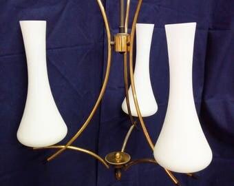 Opal stilnovo chandelier 60 years? screw mount