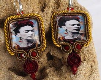 Soutache Earrings Jewellery bohemian Jewelry beads Chandeliers Necklace Unique Ohrhaken925