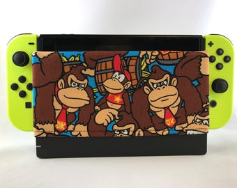 Donkey Kong , Mario - Nintendo Switch Dock Sock- Nintendo Switch Case -Nintendo Switch Cover - dock sock - dock sleeve - screen protector