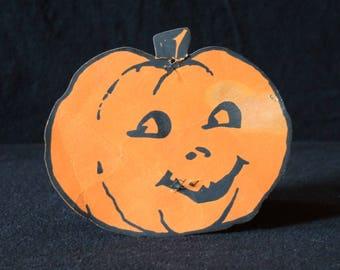 Vintage Halloween Pumpkin Diecut Deocration