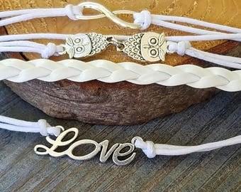 Owls Love and Infinity Bracelets