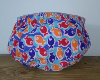 Cubrepanal of different patterned lycra bathing suits, dry quickly, handmade baby clothes