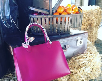 Top Handle Bag - Magenta