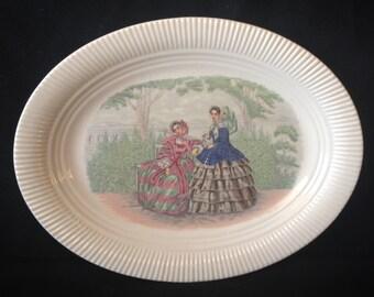 """Salem China Godey Prints 11 3/8"""" Platter"""