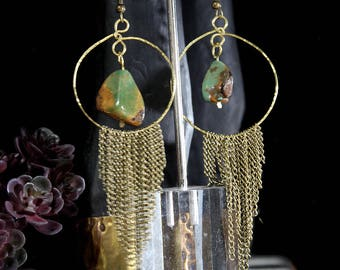 Brass and Green Turquoise