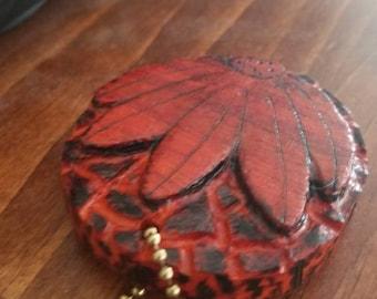 African pauduk wood keychain
