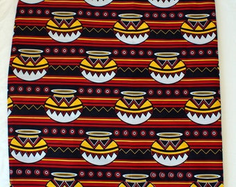 African Wax Print Fabric (Kitenge), sold by the yard