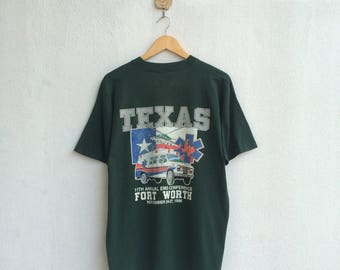 Vintage 90's Texas 11th Annual EMS Conference T-Shirt / All Single Stich