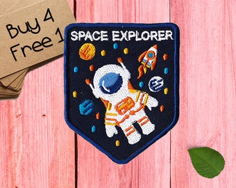 Space Explorer Patches Astronaut Patches Iron On Patch Sew On Patch Patches For Jackets