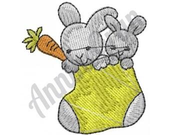 Bunny Stocking - Machine Embroidery Design