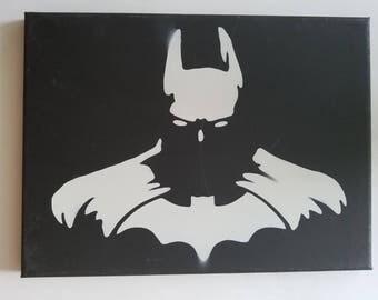 Batman Spray Paint Canvas