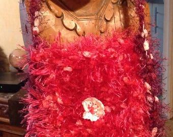 SALE Fur Wool bag