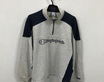 Vintage Champion Product Big Logo Embroidery Sweatshirt